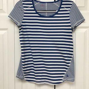 Talbots Medium Womens Striped Short Sleeved T